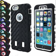 Rugged High Impact 3 in 1 Combo Defender Tyre Armor Case For iPhone 7 6 5 5S SE