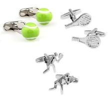 Sport Tennis Player Tennis Racket Tennis Cufflinks - 3 Variations