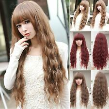 Hot! Beauty Fashion Womens Lady Long Curly Wavy Hair Full Wigs Cosplay Party AU2
