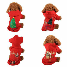 Pet Dog Cat Cotton Warm Jacket Coat Puppy Clothes Safe Winter Sweater Christmas