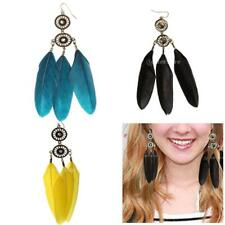 fashion Feather Dream Catcher Crystal dangle chandelier earrings women jewelry