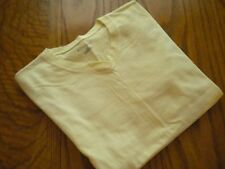 "WOMEN'S SHORT SLEEVE V- NECK YELLOW TOP SIZE LARGE BY ""CHAMPION"" NWOT"
