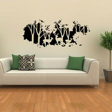 Trees Deers Home Wall Sticker Art Room Vinyl Decal Removable Decor Mural DIY