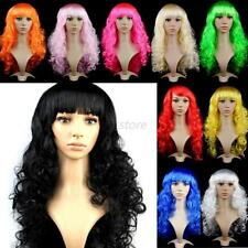 Sexy Womens Ladies Long Curly Curl Wavy Cosplay Party Hair Anime Full Wigs