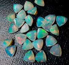 4mm to 8mm Calibrated Size Ethiopian Welo Opal Faceted Trillion Loose Gemstone