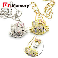 Pendrive Hello Kitty Jewelry Bling USB Flash 4-32 GB Full Capacity Memory Stick