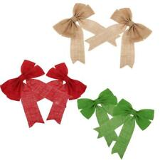 Christmas Tree Bow Decoration Bowknot Ornaments XMAS New Year Party Decoration