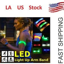 1Pc Reflective Safety Belt Arm Strap Night Cycling Running LED Armband Light LO