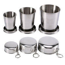 Stainless Steel Portable Outdoor Camping Travel Foldable Collapsible Cup S/M/L z