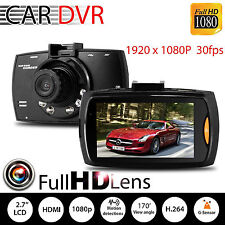 "1080P 2.7"" LCD Car DVR Dash Camera Cam G-sensor IR Night Vision Pro OS"