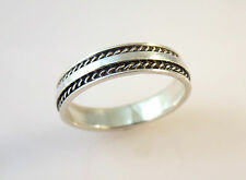 .925 Sterling Silver RAISED CENTER SIDE WRAP RING Size 4.5-6.5 NEW 925 03007