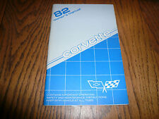 1982 Chevrolet Corvette Original Owner's Manual - Glove Box - OEM