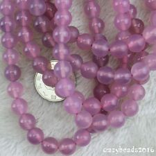 """Pretty Pink Agate Onyx Round Loose Beads Jewelry Making Strand 15"""" 10mm 16mm"""