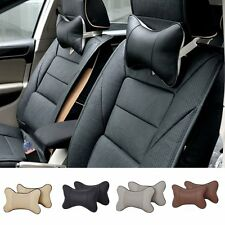 Travel Car suv Seat Head Neck Rest Leather Cushion Pad HeadRest Bone Pillow New