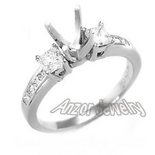 .70CT PRINCESS CUT DIAMOND ENGAGEMENT RING SETTING Semi-Mount.18K #R1577
