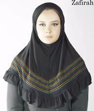 Pull On Ready Made One Piece Rainbow jersey Hijab Long Shawl Scarf Pashmina