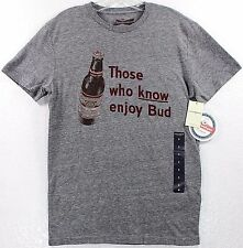NWT Lucky Brand Budweiser Those Who Know Enjoy Bud T-Shirt Tee Anheuser Beer