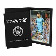 Personalised Manchester City Sergio Aguero Autograph Signed Photo Folder
