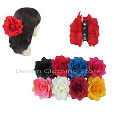 6pcs Women Flower Rose Jaw Hair Clip Claw Double Sided Style Petals Pin Updo Lot