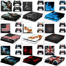 Vinyl Decal Protective Cover Skin Stickers for  Sony PS4 Console + 2 Controllers