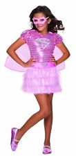 Supergirl Pink Sequin Deluxe Girls Costume