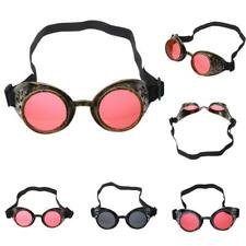 Cyber Goggles Steampunk Glasses Vintage Welding Punk Goth Costume Victorian