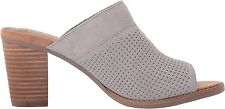 TOMS WOMENS MAJORCA MULE DRIZZLE GREY SUEDE SANDAL NEW SHOES SIZE 6-9
