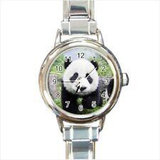 Cute Baby Panda Italian Charm Watch (Battery Included)