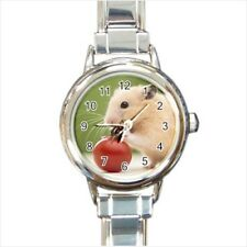 Cute Tiny Hamster Italian Charm Watch (Battery Included)