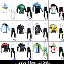 New Winter Cycling Jersey Bib Pants Bicycle Shirt Padded Trousers Thermal Fleece