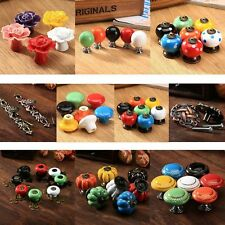 Retro Ceramic Wardrobe Cabinet Cupboard Door Drawer Pull Handle Knobs Wholesale