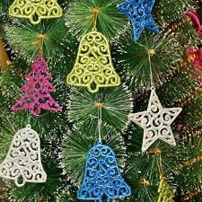 Newest Christmas Tree Ornaments Xmas Hanging Gift Tree Bell Star Decoration 6pcs