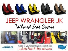 New Jeep Wrangler JK 2013-2017 Front & Rear Coverking Neoprene Seat Covers