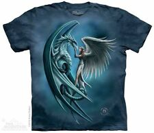 """Angel & Dragon"""" by Anne Stokes T-Shirt - Adult S - 5X"""