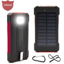20000mah Waterproof Solar pannel charger Power Bank USB power LED light Compass