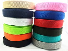 New Hot Width 20mm Length 5/10/50Yards Nylon Webbing Strapping Pick Colors
