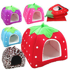 Strawberry Pet Dog Cat Puppy Warm Bed Mat Soft House Pad Kennel Basket Nimble