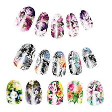 10pcs DIY Nail Water Transfer Decals Nails Art Stickers Decal Wraps Flower Style