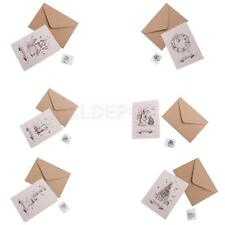 30 Sets Retro Christmas Greeting Card with Painted Envelopes Wishing Cards
