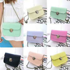 Womens Messenger Bags PU Leather Crossbody Bag Chain Small Girl Shoulder Handbag