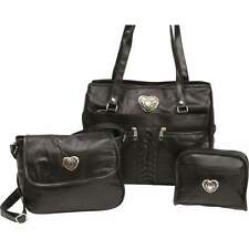 Lot of 3 Womens Genuine Leather Shoulder Handbags and Purses