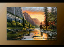 Handmade Classical Landscape Abstract Oil Painting repro on Canvas Wall Art-G104