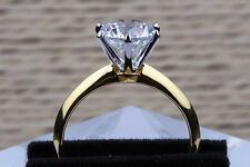 Diamond solitaire engagement ring ct gold yellow size vs2 14k 0 round enhanced n