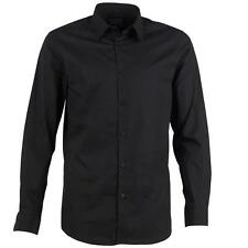 Peter Werth Mens Long Sleeve Shirt - Black - Slim Fit - RRP £55 - SALE *BNWT*