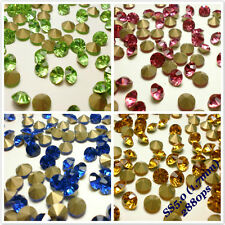 SS5 (1.7mm) Point back Rhinestones Crystal Glass Strass Chaton Nail Art 2880ps