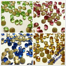 SS9.5 (2.6mm) Point back Rhinestones Crystal Glass Strass Chaton Nail Art 2880ps