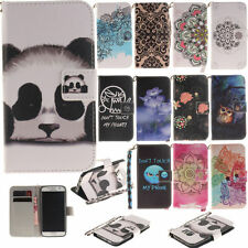 Cute Patterns Fashion Design Case for Apple LG Huawei Phones PU Leather Cover
