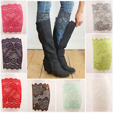 Hot Sale Stretch Lace Boot Cuffs Flower Leg Winter Warm Lace Trim Toppers Socks