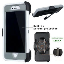 For Apple iPhone Case Cover White - (Belt Clip fits Otterbox Defender series)