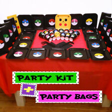 POKEMON  BIRTHDAY PARTY KIT Plates Cups Table Cover Napkins Straws Banner